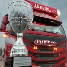 Weeda floreert tijdens Mooiste Truck verkiezing